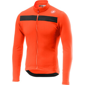Castelli Puro 3 Full-Zip Jersey Hombre, orange